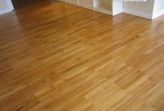 Parquet brillo o satinado simple suelo de madera roble - Como pulir parquet ...